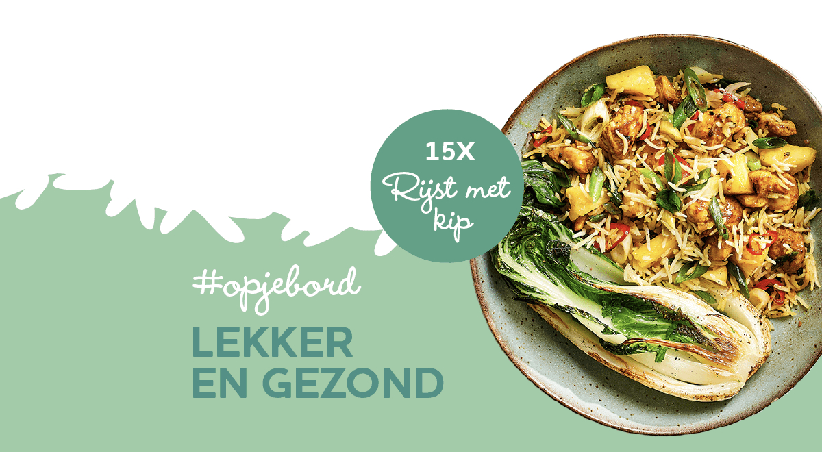 15x rijst met kip (en groenten)