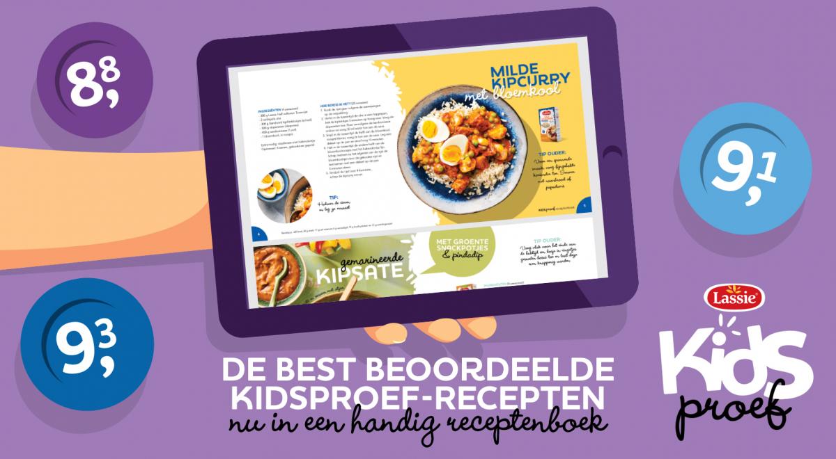 Lassie introduceert het Kidsproef-receptenboek!
