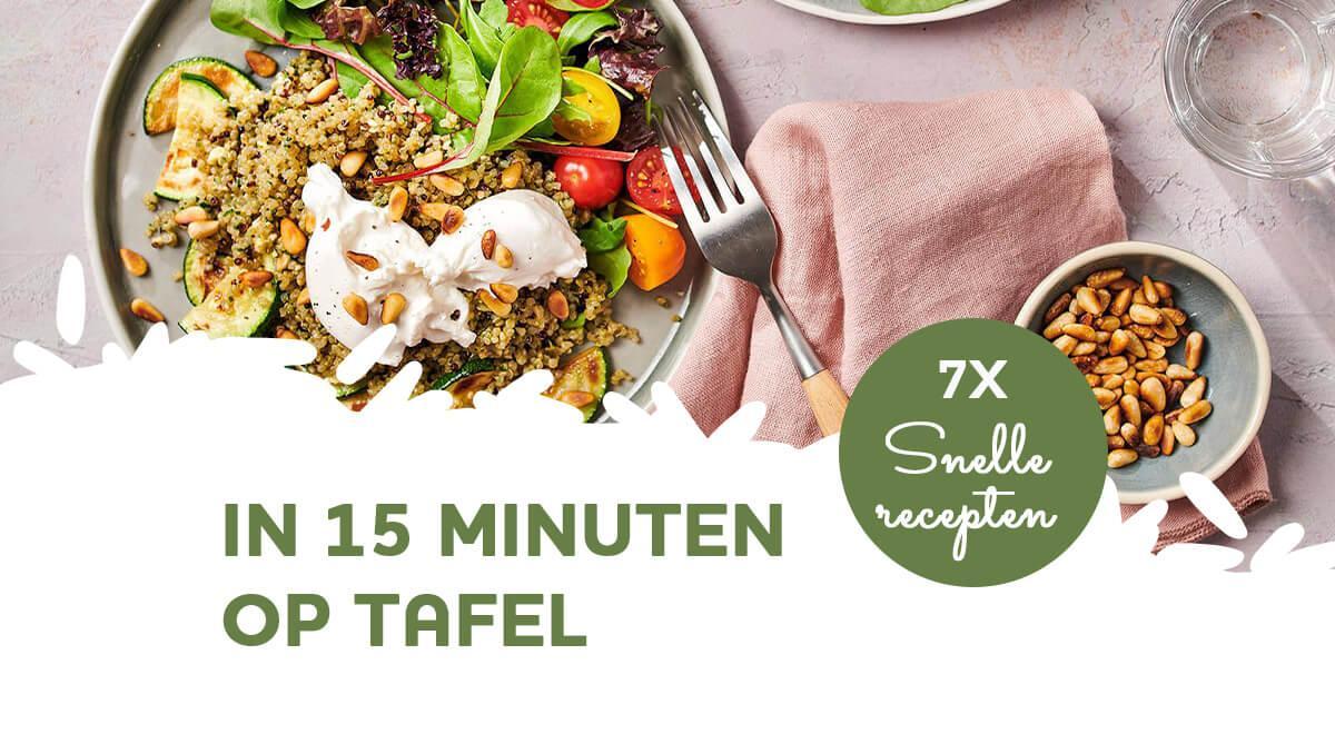 7 snelle recepten voor het avondeten (klaar in 15 minuten!)