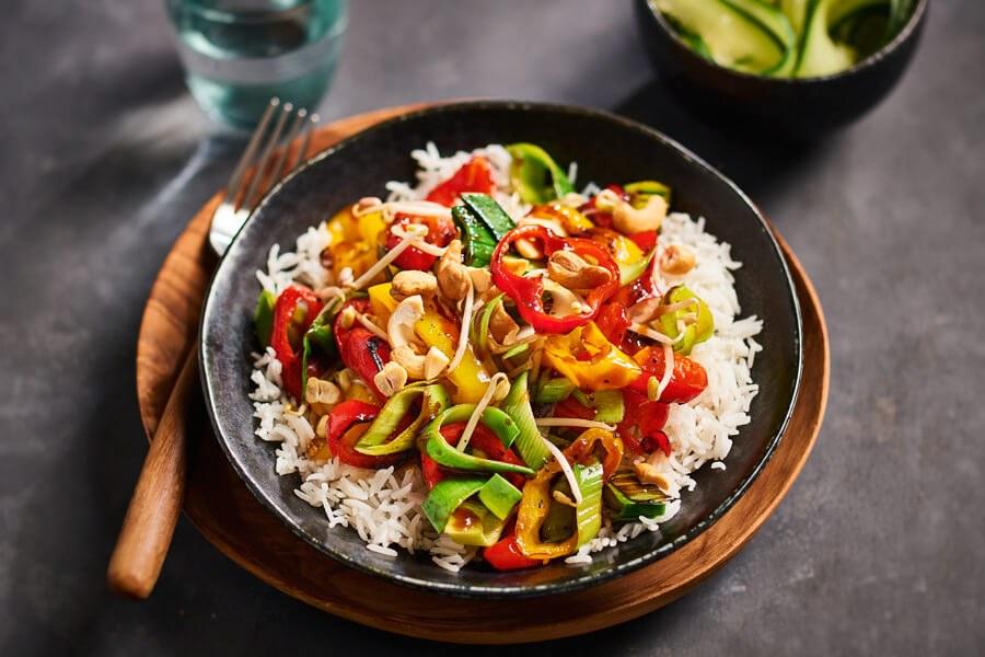 rijst met groenten
