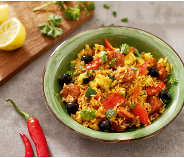 Spaanse rijst  met chorizo en paprika
