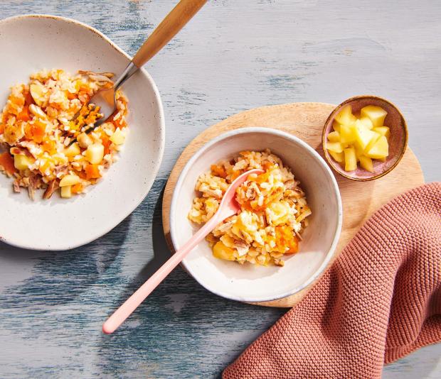 Babyproof risotto met kip