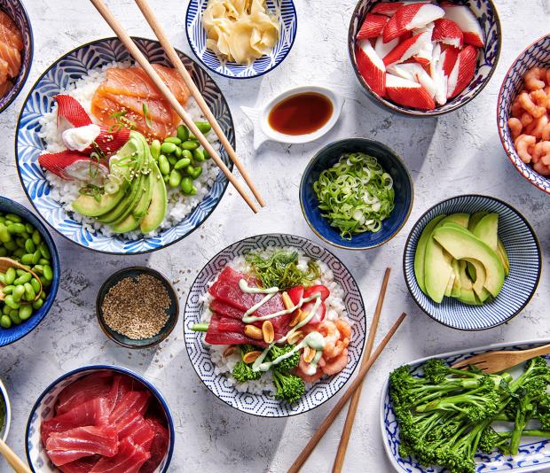 Poké bowl met vis
