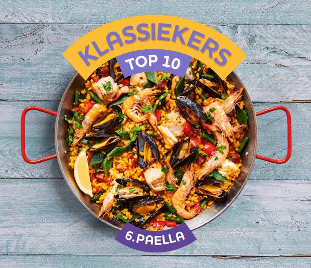 Paella met vis