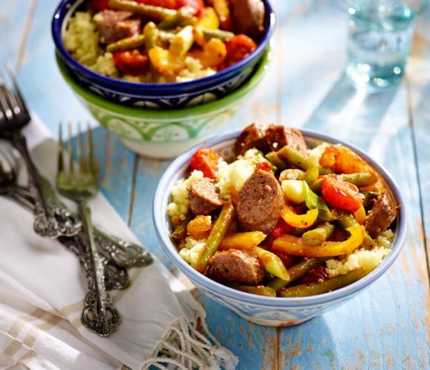 Zeer Braadworst met groentestoof | Recept - Lassie rijst @SN21