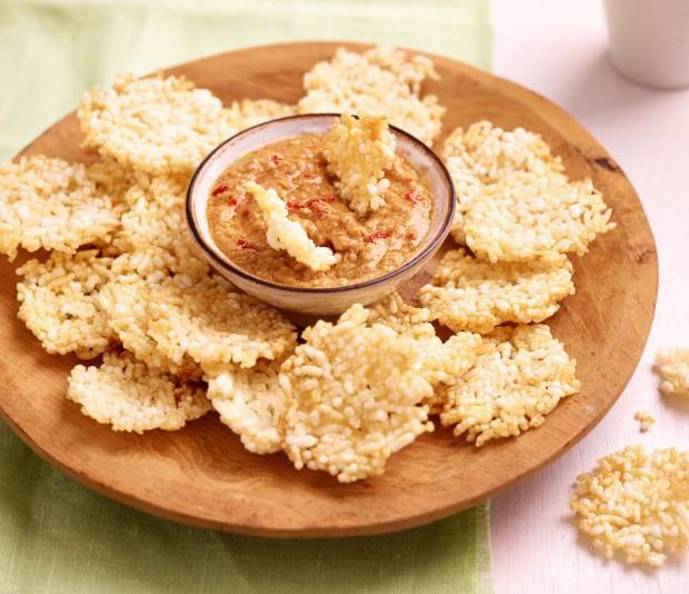 Thaise rijstcrackers