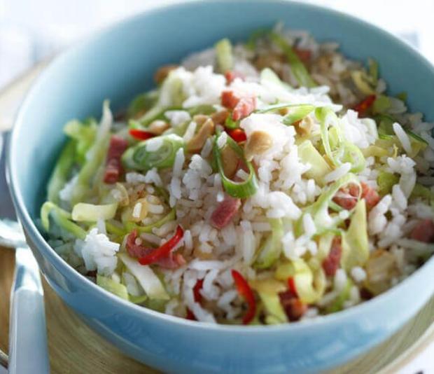 Gewokte rijst