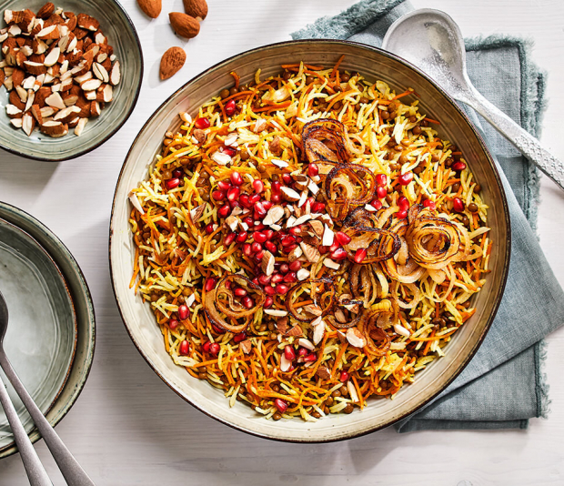 Perzische rijst met linzen