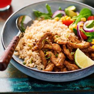 Jamaicaanse  kip met rijst