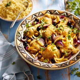 Kiptajine met couscous