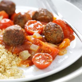 Italiaanse gehaktballetjes  met couscous