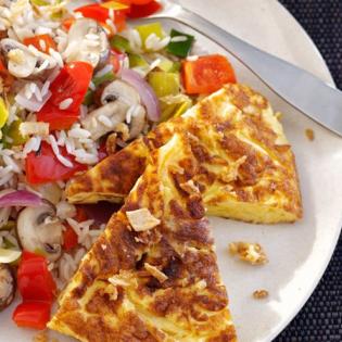 Omelet  met groenterijst