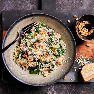 Groene risotto met gorgonzola