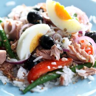 Salade Niçoise  met rijst