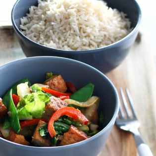 Tofu  met Chinese kool