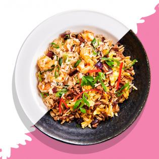 Pittige Thaise rijst met gehakt