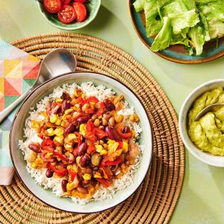 Mexicaanse burritobowl met toverrijst