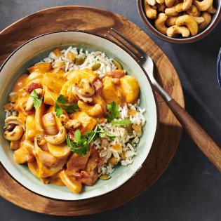 Thaise curry met pastinaak en cashewnoten pastinaakcurry en cashewnoten
