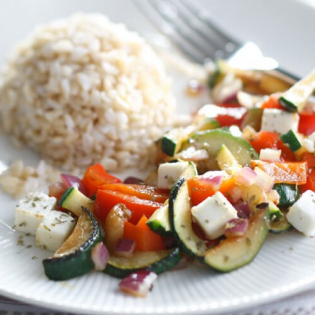 Mediterrane groenten  met feta