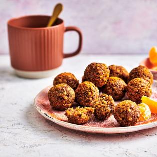 Bliss balls met vijgen, quinoa en speculaas