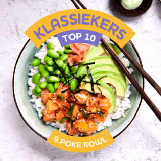 Japanse Poké Bowl met zalm en pickled ginger
