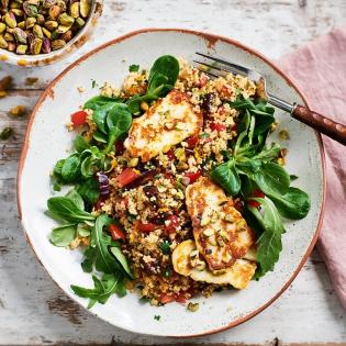 Couscous salade met haloumi