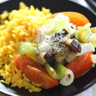 Italiaans groentepotje met mozzarella