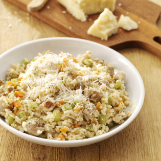 Romige risotto met kip