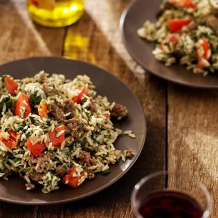 Italiaanse gehaktschotel met spinazie