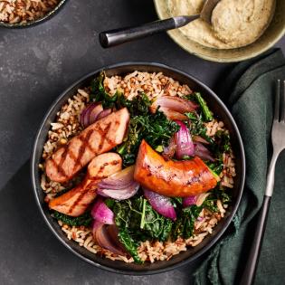 Zilvervlies + Sorghum en Wilde rijst met boerenkool en rookworst